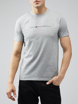 grey cotton t-shirt - 15030950 - Standard Image - 1