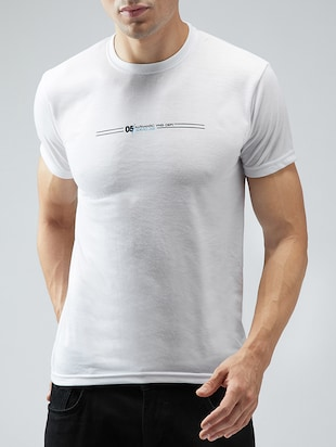 white cotton t-shirt - 15030951 - Standard Image - 1