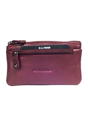 maroon leather wallet - 15032667 - Standard Image - 1