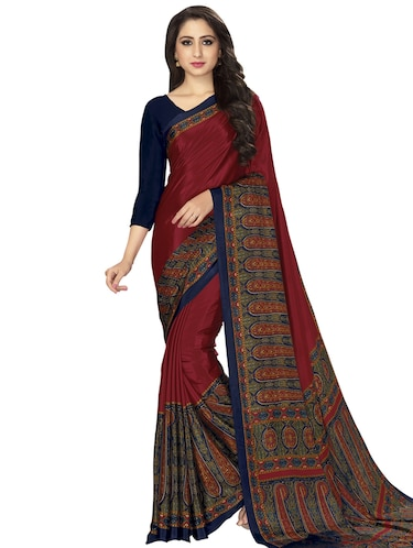 paisley bordered saree with blouse - 15032922 - Standard Image - 1