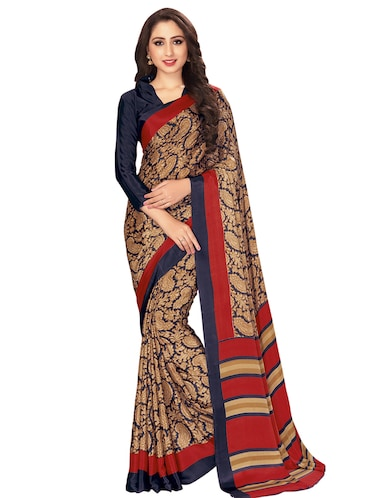 Paisley printed saree with blouse - 15032927 - Standard Image - 1