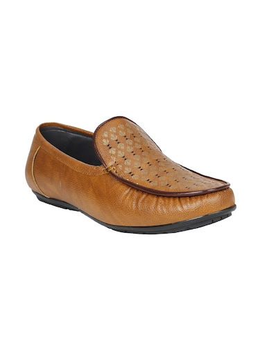 tan leatherette slip on loafer - 15033431 - Standard Image - 1