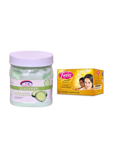 FEM Gold Cr?me Bleach and Pink Root Cucumber Cream 500ml - 15033495 - Standard Image - 1