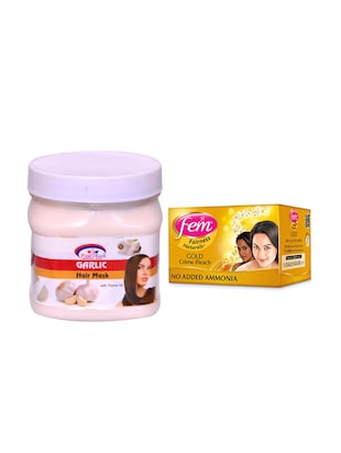 FEM Gold Crme Bleach and Pink Root Garlic Hair Mask 500ml - 15033501 - Standard Image - 1