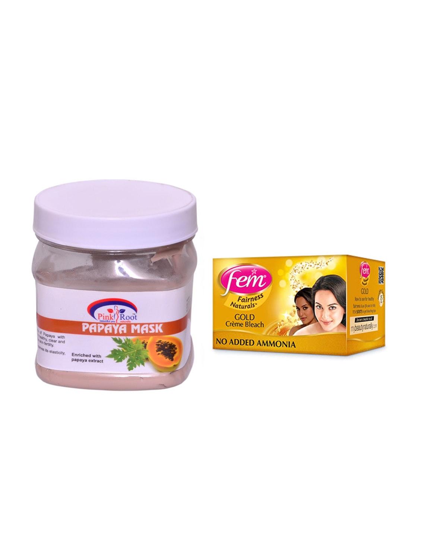FEM Gold Cr?me Bleach and Pink Root Papaya Mask 500ml