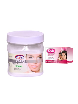 FEM Saffron Crme Bleach and Pink Root Pearl Cream 500ml - 15033511 - Standard Image - 1
