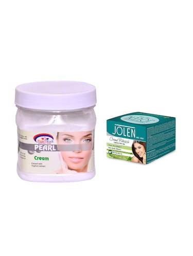 JOLEN Aloe Vera Bleach Cr?me 18g and Pink Root Pearl Cream 500ml - 15033523 - Standard Image - 1