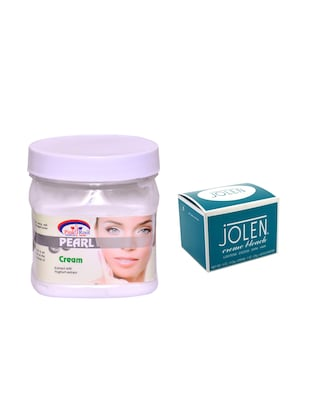 JOLEN Crme Bleach 18g and Pink Root Pearl Cream 500ml - 15033535 - Standard Image - 1