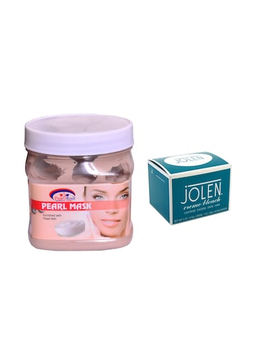 JOLEN Cr?me Bleach 18g and Pink Root Pearl Mask 500ml - 15033539 - Standard Image - 1