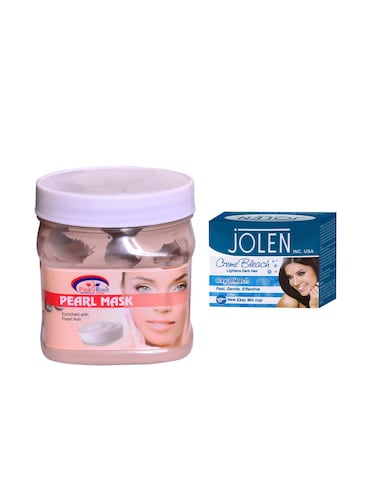 JOLEN Oxy Bleach Cr?me 35g and Pink Root Pearl Mask 500ml - 15033563 - Standard Image - 1