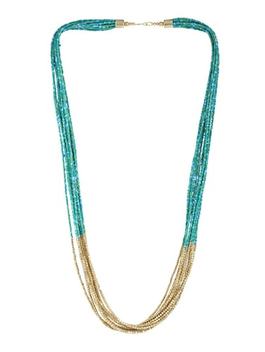 green metal long necklace - 15033999 - Standard Image - 1