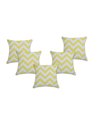 Set of 5 Cotton Cushion Covers - 15040358 - Standard Image - 1