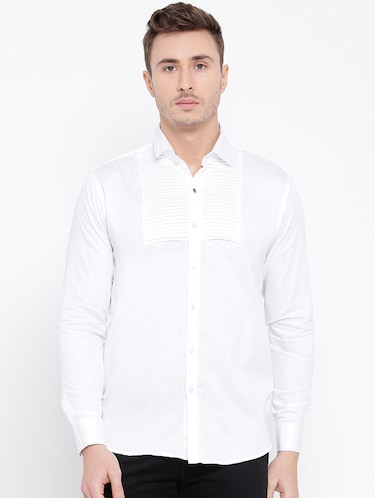 white cotton casual shirt - 15057547 - Standard Image - 1