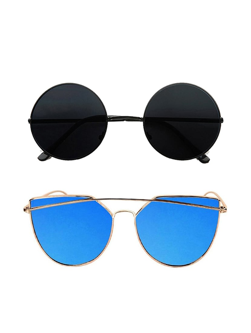 82c35b1deaf ... Eagle Blue Bar Aviator Gandhi Sunglasses Combo - 15074778 - Zoom Image  - 1