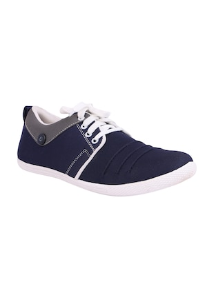 blue Canvas lace up sneaker - 15093977 - Standard Image - 1