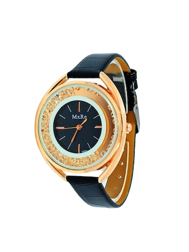 Round Analog Dial watch with leatherette strap - 15098287 - Standard Image - 1
