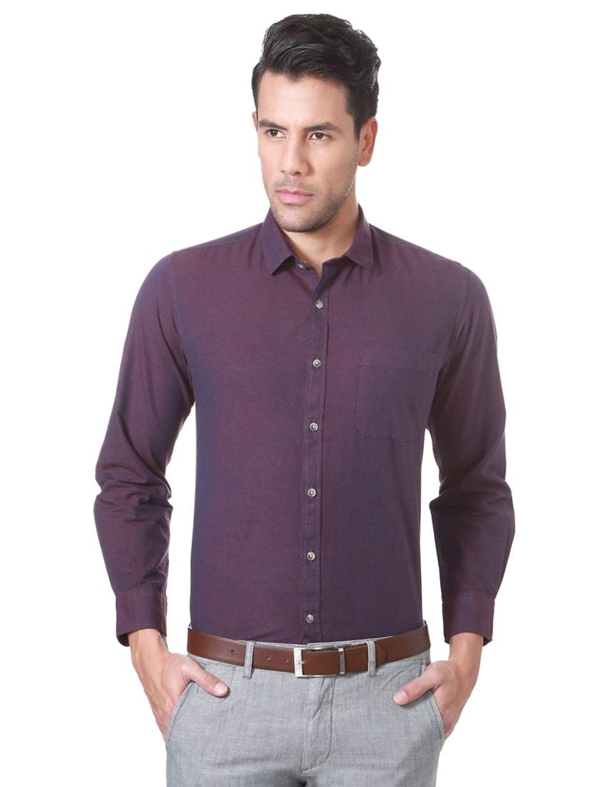 ed241d77e Buy Purple Cotton Formal Shirt for Men from Peter England for ₹784 ...