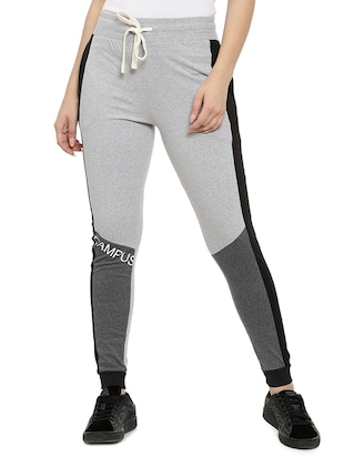 grey cotton track pants - 15110315 - Standard Image - 1