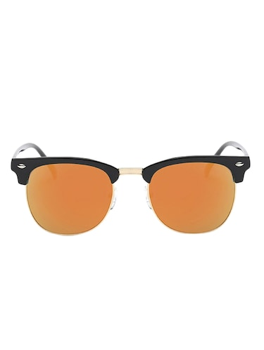 Semi Rimless Polorized Classic Club master Vintage Retro Design Brand with Sunglass Case - 15110838 - Standard Image - 1