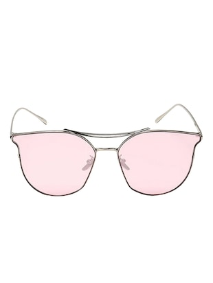 Cat-Eye Frames Round Sun-Glasses For Women Stylish Mirror - 15110852 - Standard Image - 1
