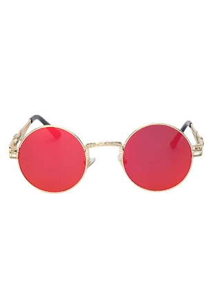 Round Vintage SteamPunk Sun-Glasses for Women Men Latest Stylish - 15110885 - Standard Image - 1