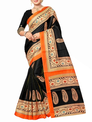 black art silk bhagalpuri saree with blouse - 15112893 - Standard Image - 1