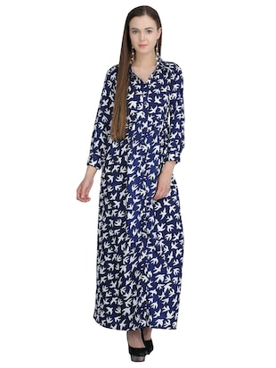 button down pleated maxi dress - 15113269 - Standard Image - 1