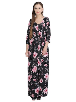 button down pleated floral dress - 15113273 - Standard Image - 1
