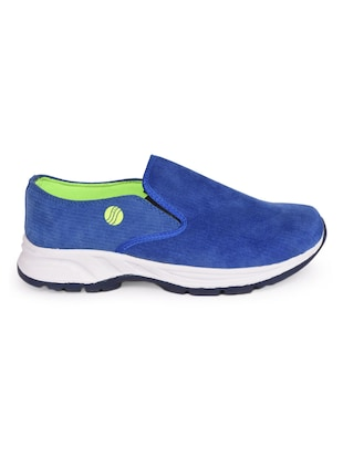 blue Canvas slip on sport shoe - 15113790 - Standard Image - 1