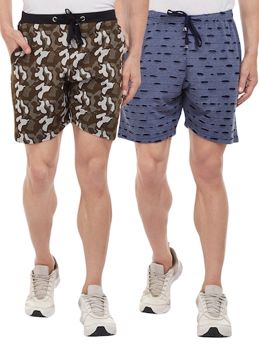 multi colored cotton shorts - 15113900 - Standard Image - 1
