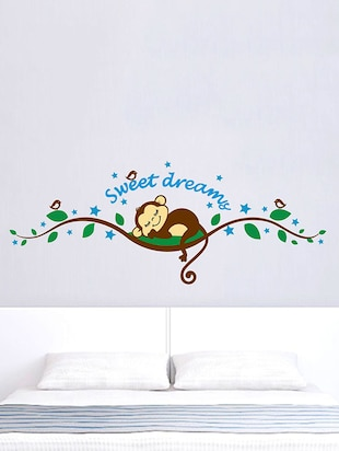 Art Sweet Monkey Wall Sticker - 15114178 - Standard Image - 1