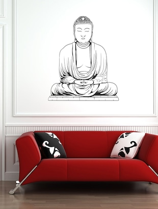 Art Spritual Black buddha Wall Sticker - 15114201 - Standard Image - 1