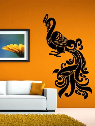 Art Peacock Wall Sticker - 15114222 - Standard Image - 1