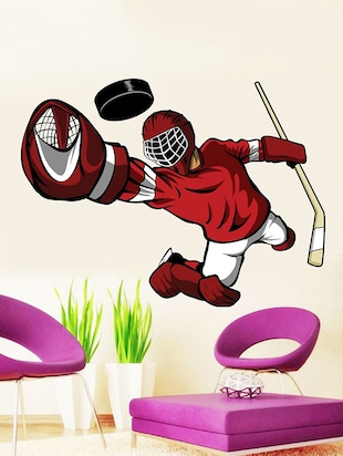 Ice Hockey Goalkeeper Wall Sticker - 15114250 - Standard Image - 1