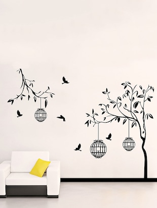 Free bird case black Wall Sticker - 15114269 - Standard Image - 1