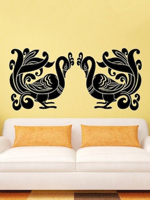 Double Peacock Wall Sticker - 15114275 - Standard Image - 1