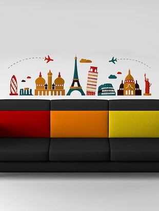 Destinations Wall Sticker - 15114279 - Standard Image - 1
