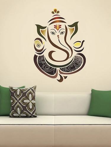 Royal Ganesh Wall Sticker - 15114336 - Standard Image - 1