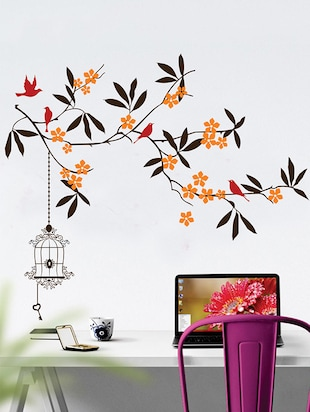 beautiful tree with flower Wall Sticker - 15114353 - Standard Image - 1