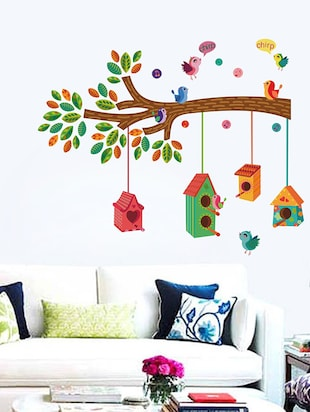 Bird House on a Branch Wall Sticker - 15114356 - Standard Image - 1
