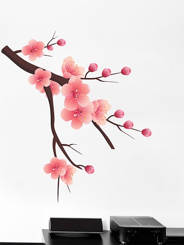 Branch with Flowers Wall Sticker - 15114363 - Standard Image - 1