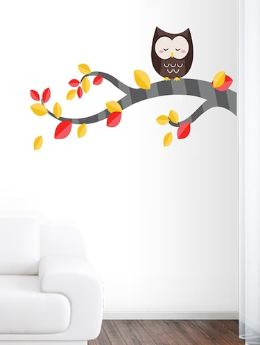 color tree with owl Wall Sticker - 15114367 - Standard Image - 1