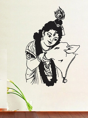 krishna with cow Wall Sticker - 15114408 - Standard Image - 1