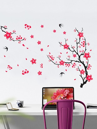 Different tree with flower Wall Sticker - 15114429 - Standard Image - 1