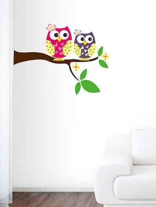 cute owl Wall Sticker - 15114444 - Standard Image - 1