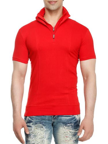 red cotton t-shirt - 15115282 - Standard Image - 1