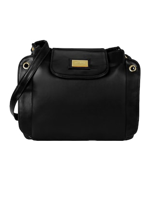 black leatherette  regular sling bag - 15116758 - Standard Image - 1