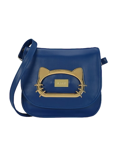 blue leatherette  regular sling bag - 15116773 - Standard Image - 1