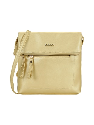 gold leatherette  regular sling bag - 15116774 - Standard Image - 1