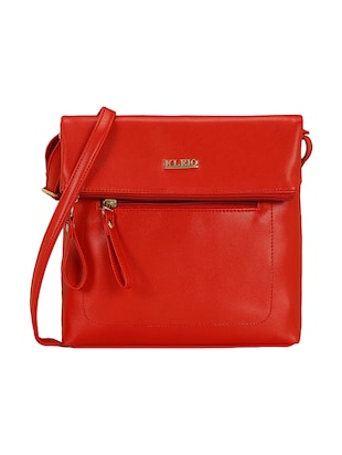 red leatherette  regular sling bag - 15116775 - Standard Image - 1